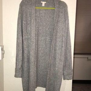 H&M Long Gray Sweater Cardigan